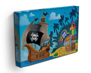 Pirate ship topic image 6 Canvas Print or Poster - Canvas Art Rocks - 3