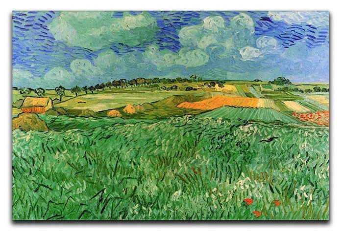 Plain Near Auvers by Van Gogh Canvas Print or Poster