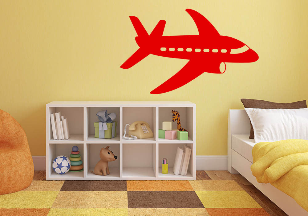 Plane Version 2 Wall Decal | Canvas Art Rocks