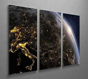 Planet earth Europe zone 3 Split Panel Canvas Print - Canvas Art Rocks - 2