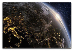 Planet earth Europe zone Canvas Print or Poster  - Canvas Art Rocks - 1