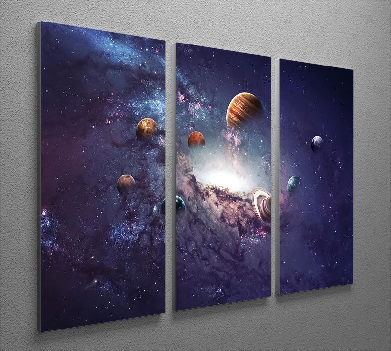 Planets in the solar system 3 Split Panel Canvas Print - Canvas Art Rocks - 2