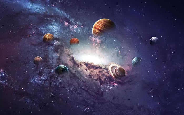 Planets in the solar system Wall Mural Wallpaper