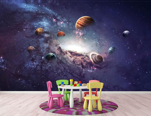 Planets in the solar system Wall Mural Wallpaper - Canvas Art Rocks - 3