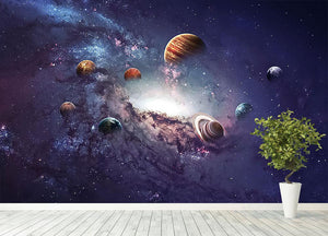 Planets in the solar system Wall Mural Wallpaper - Canvas Art Rocks - 4