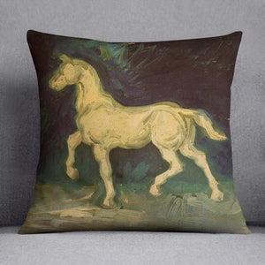 Plaster Statuette of a Horse by Van Gogh Throw Pillow