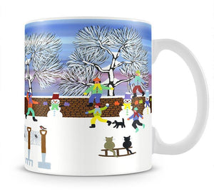 Playing in the snow by Gordon Barker Mug - Canvas Art Rocks - 1