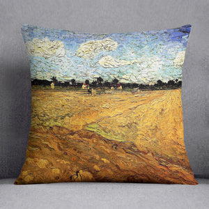 Ploughed Field by Van Gogh Throw Pillow