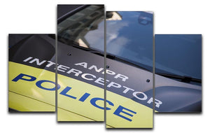 Police car 4 Split Panel Canvas  - Canvas Art Rocks - 1