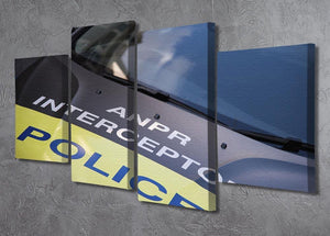 Police car 4 Split Panel Canvas  - Canvas Art Rocks - 2