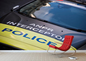 Police car Wall Mural Wallpaper - Canvas Art Rocks - 2