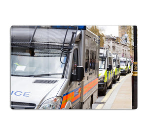 Police vans in a row HD Metal Print