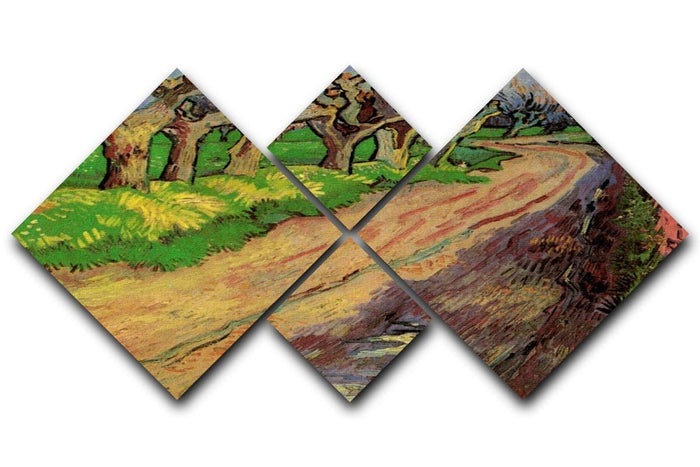 Pollard Willows by Van Gogh 4 Square Multi Panel Canvas