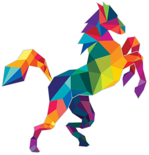 Polygonal Horse Wall Decal - Canvas Art Rocks - 2