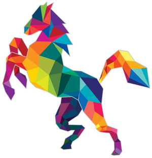Polygonal Horse Wall Decal - Canvas Art Rocks - 3