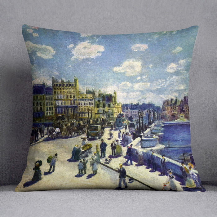 Pont Neuf by Renoir Throw Pillow