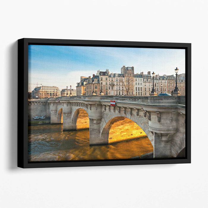 Pont neuf Ile de la Cite Floating Framed Canvas