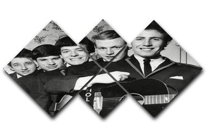 Pop Group The Hollies 4 Square Multi Panel Canvas  - Canvas Art Rocks - 1