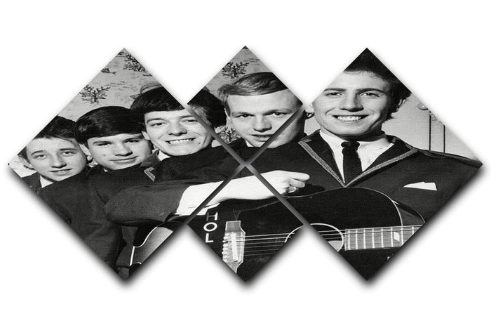 Pop Group The Hollies 4 Square Multi Panel Canvas