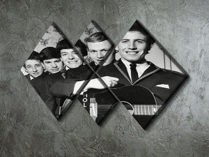 Pop Group The Hollies 4 Square Multi Panel Canvas - Canvas Art Rocks - 2