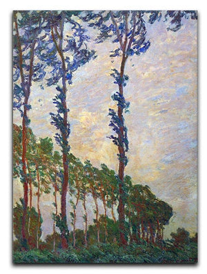 Poplar series wind by Monet Canvas Print & Poster  - Canvas Art Rocks - 1