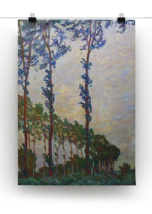 Poplar series wind by Monet Canvas Print & Poster - Canvas Art Rocks - 2