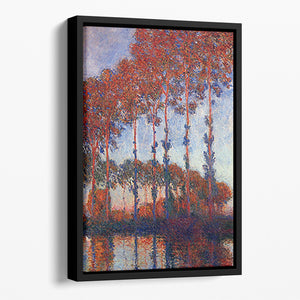 Poplars by Monet Floating Framed Canvas