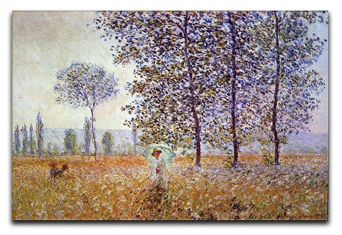 Poplars in the sunlight by Monet Canvas Print or Poster