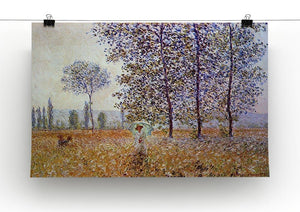 Poplars in the sunlight by Monet Canvas Print & Poster - Canvas Art Rocks - 2