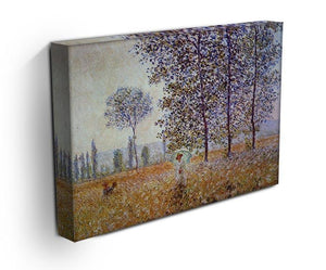 Poplars in the sunlight by Monet Canvas Print & Poster - Canvas Art Rocks - 3