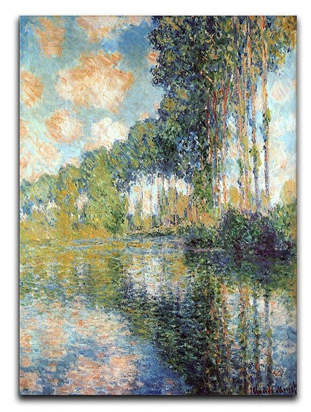 Poplars on the Epte by Monet Canvas Print or Poster