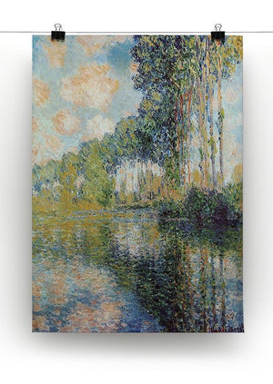 Poplars on the Epte by Monet Canvas Print & Poster - Canvas Art Rocks - 2