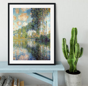 Poplars on the Epte by Monet Framed Print - Canvas Art Rocks - 1