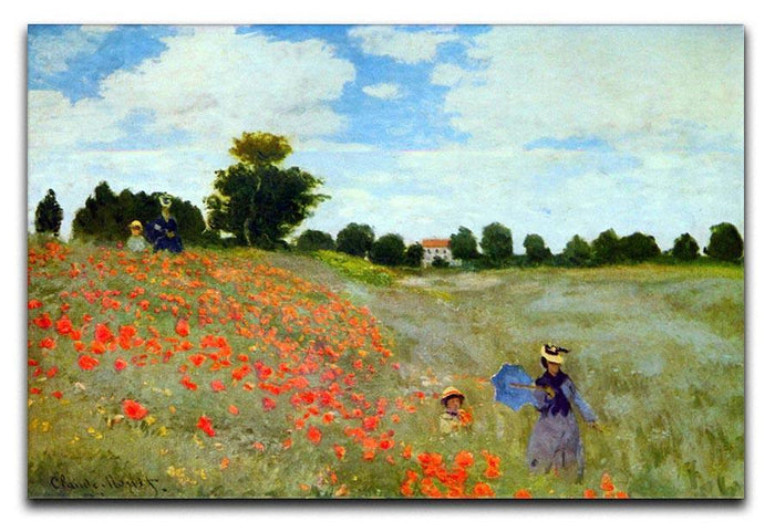 Poppies by Monet Canvas Print or Poster