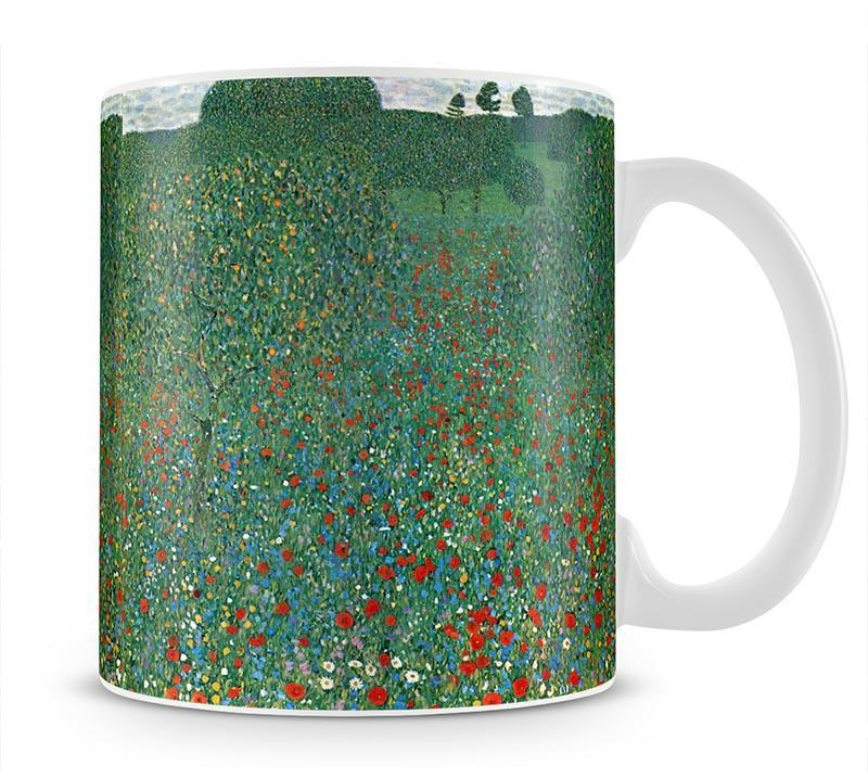 Poppy Field by Klimt Mug - Canvas Art Rocks - 1