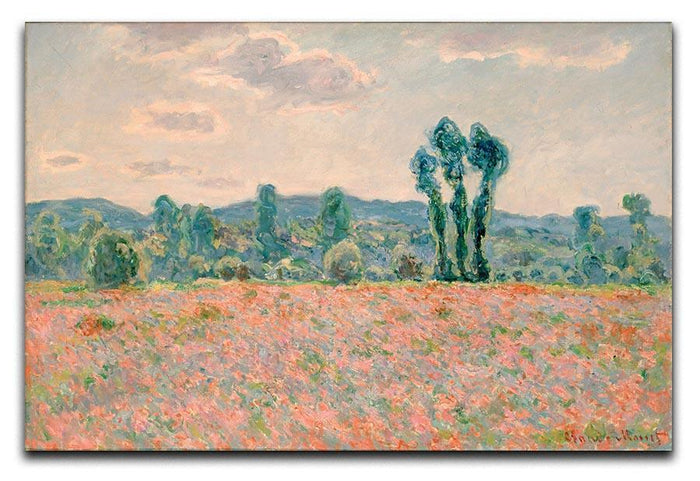 Poppy Field by Monet Canvas Print or Poster