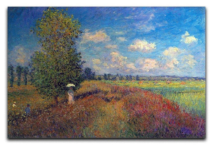 Poppy Field in Summer by Monet Canvas Print or Poster
