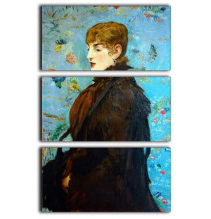 Portrait de MCry Laurent 1882 by Manet 3 Split Panel Canvas Print - Canvas Art Rocks - 1