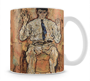 Portrait of Albert Paris von Gütersloh by Egon Schiele Mug - Canvas Art Rocks - 1