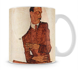 Portrait of Arthur Rossler by Egon Schiele Mug - Canvas Art Rocks - 1