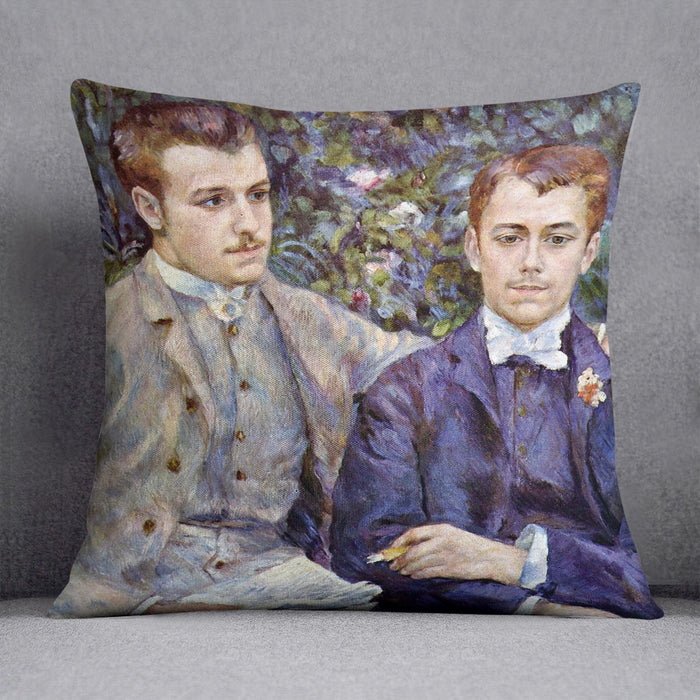 Portrait of Charles and George by Renoir Throw Pillow
