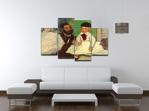 Portrait of Count Lepic and his daughters by Degas 4 Split Panel Canvas - Canvas Art Rocks - 3