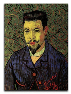 Portrait of Doctor Felix Rey by Van Gogh Canvas Print & Poster  - Canvas Art Rocks - 1