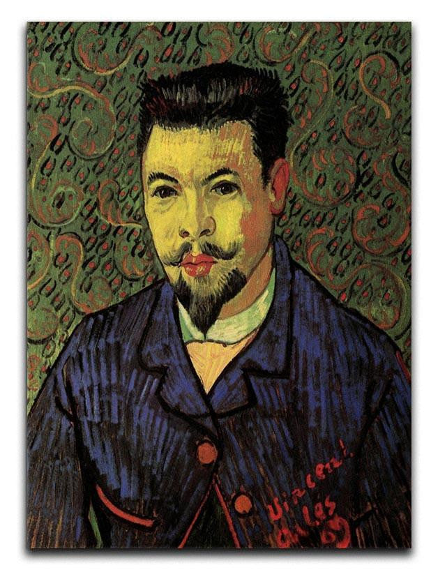 Portrait of Doctor Felix Rey by Van Gogh Canvas Print or Poster