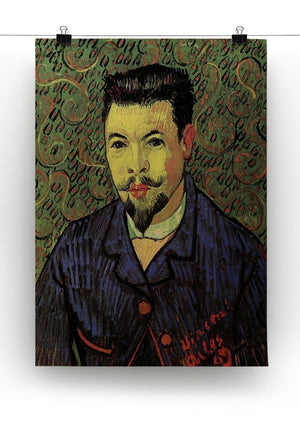 Portrait of Doctor Felix Rey by Van Gogh Canvas Print & Poster - Canvas Art Rocks - 2