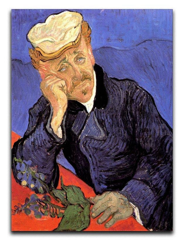 Portrait of Doctor Gachet by Van Gogh Canvas Print or Poster