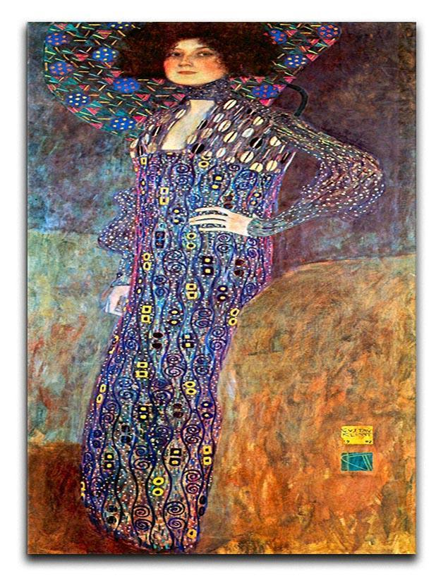 Portrait of Emily Floge by Klimt Canvas Print or Poster  - Canvas Art Rocks - 1