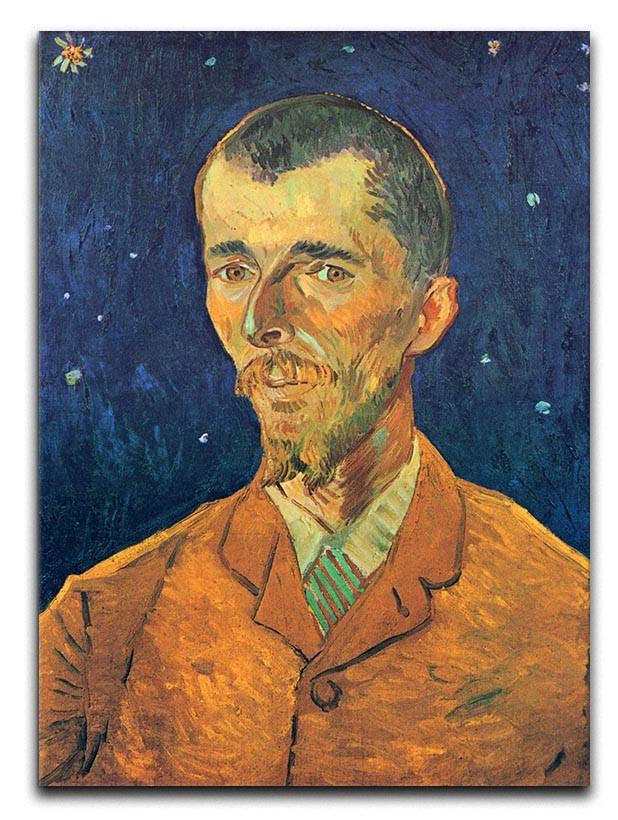 Portrait of Eugene Boch by Van Gogh Canvas Print or Poster