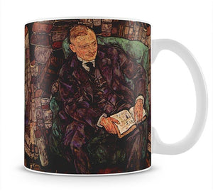 Portrait of Hugo Koller by Egon Schiele Mug - Canvas Art Rocks - 1