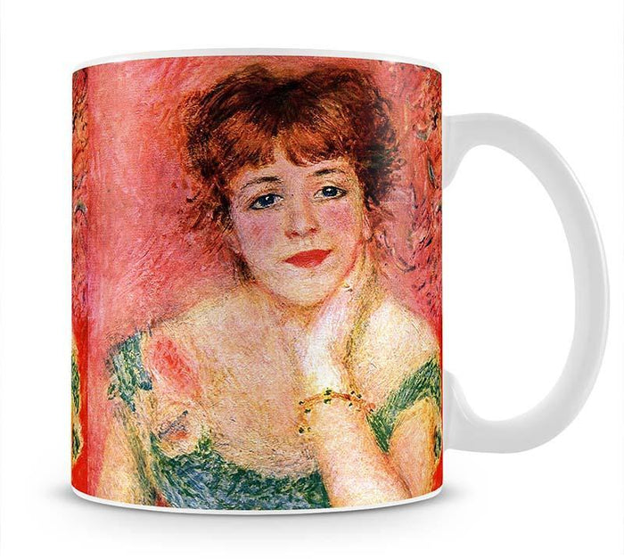Portrait of Jeanne Samary by Renoir Mug